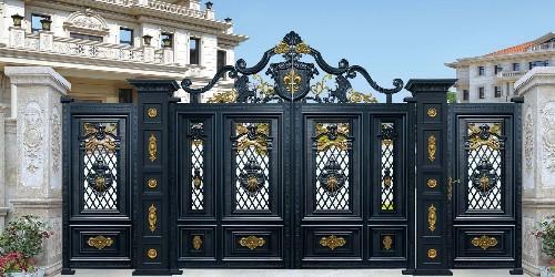 非常有气质的铝艺庭院大门的头部设计是怎样的?