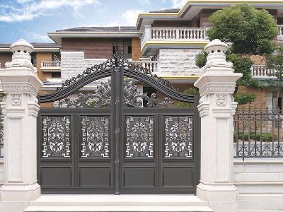 铝艺庭院大门为什么选择汉仁铝艺生产的?
