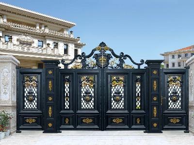 汉仁铝艺是如何打造铝艺别墅门的呢?