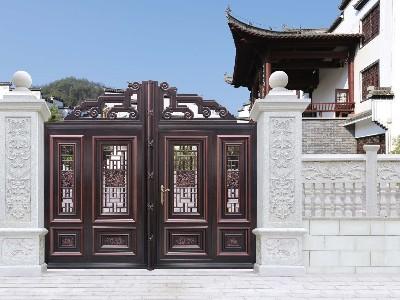 汉仁铝艺在别墅大门定制上有什么不同?