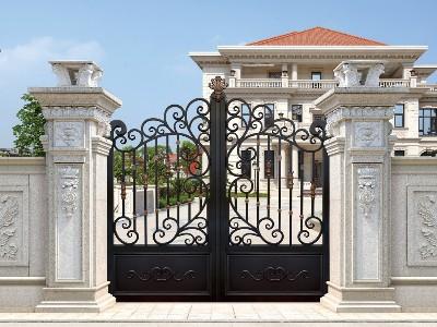 新结构组成的别墅大门增加了寿命