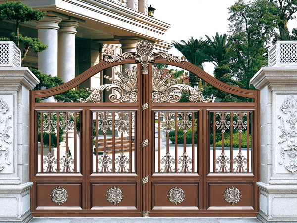别墅庭院铝制大门 厂家专业定制铝大门