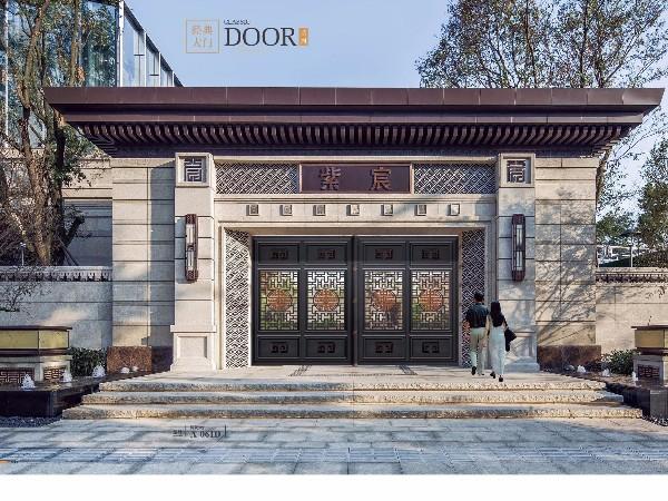 中式别墅大门 庭院铝合金大门
