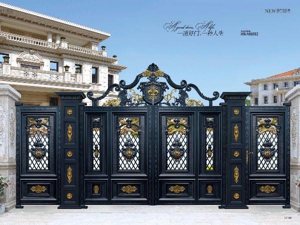 厂家直销定制铝艺大门 高端别墅庭院铝合金大门