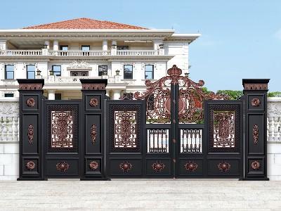 铝艺别墅门的设计创意,见过的都是大师
