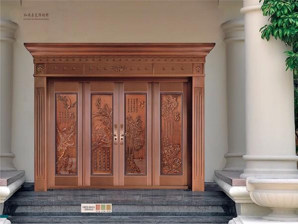 高端铸铝防爆门 别墅庭院铸铝大门