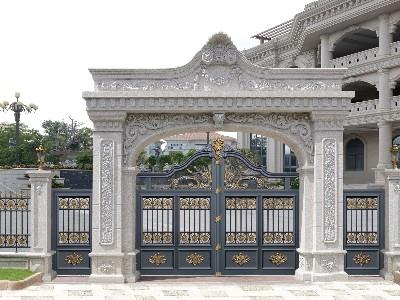 为什么农村自建房越来越多的人选择铝艺别墅门?