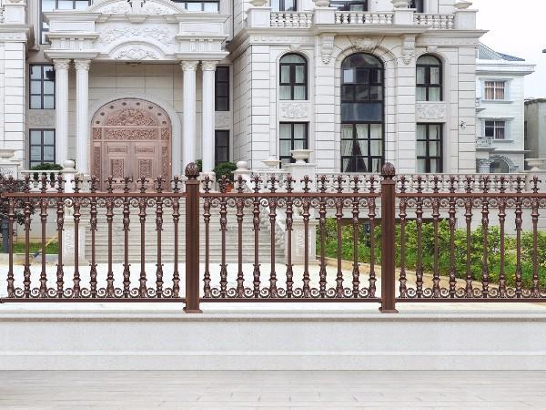 别墅围墙铝艺围栏