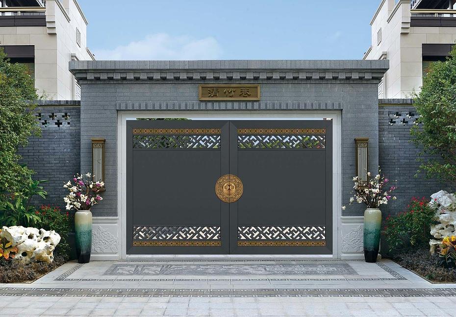 新中式别墅庭院大门4