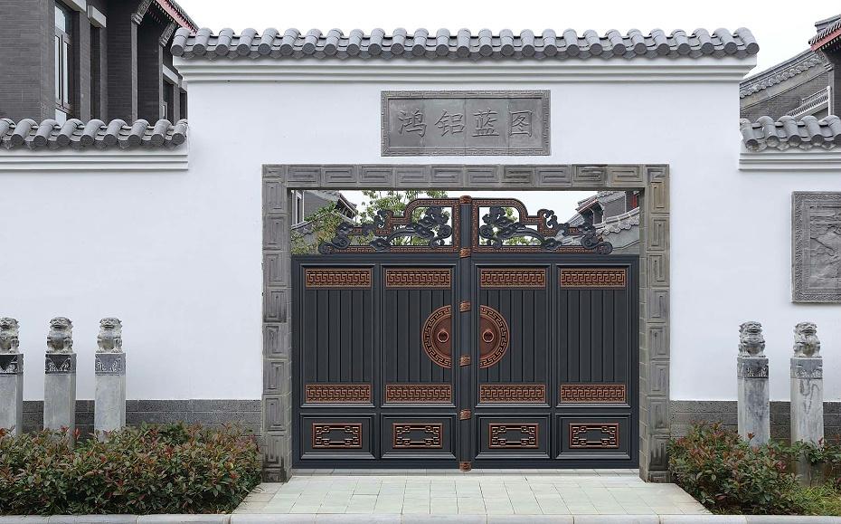新中式别墅庭院大门5