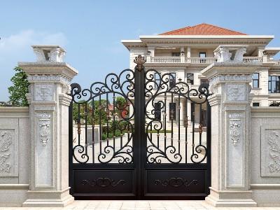 铝艺别墅门的预埋件怎么制作和预留,业主一定要看看