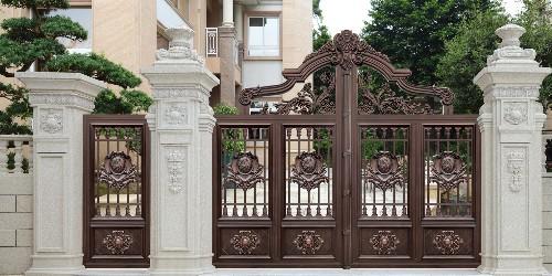 铝艺庭院大门安装设计原则有哪些?