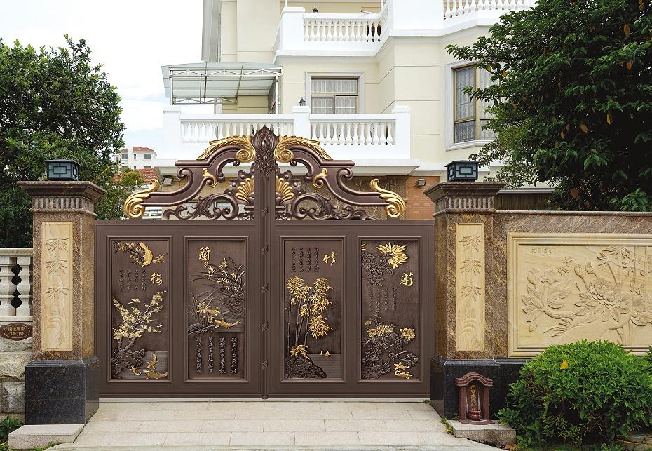 古典中式铝艺别墅门