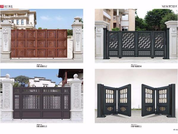 定制铝合金别墅大门 中式庭院铝艺大门