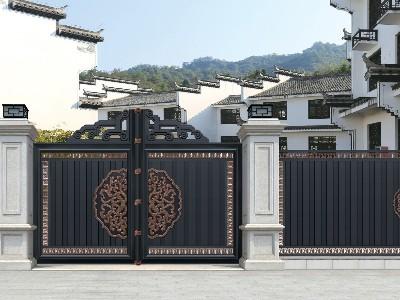 别墅大门需要搭配上多宽多高的石材柱子呢?
