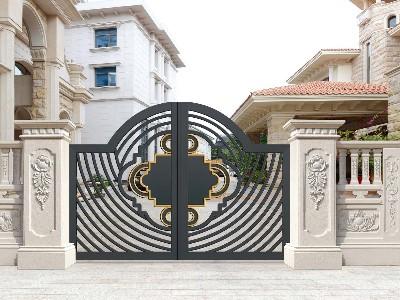 铝艺庭院大门的设计理念是怎样的?
