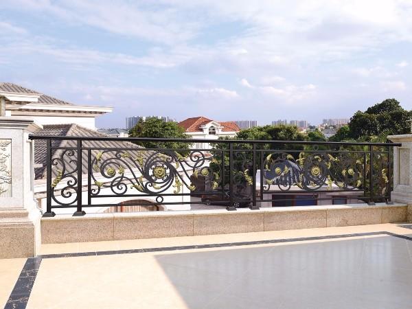 别墅阳台欧式铝合金围栏