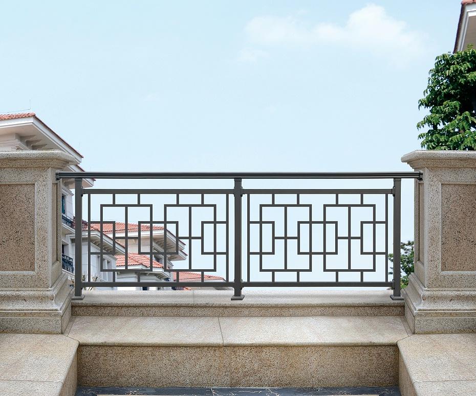 别墅阳台中式铝合金围栏