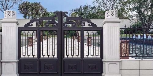铝艺庭院大门怎样搭配造型才好看?