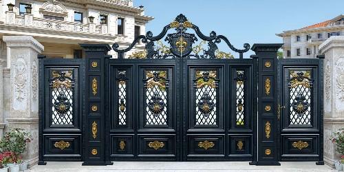 铝艺别墅门的颜值除了美观还有什么好处?
