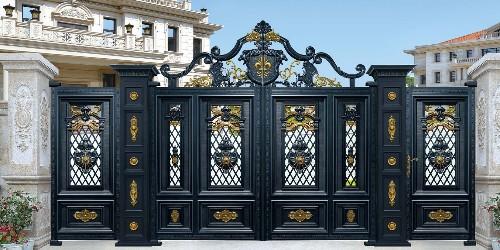 铝艺庭院大门怎样通过着色工艺来保护漆面?