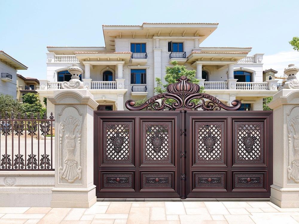 欧式别墅铝艺庭院大门