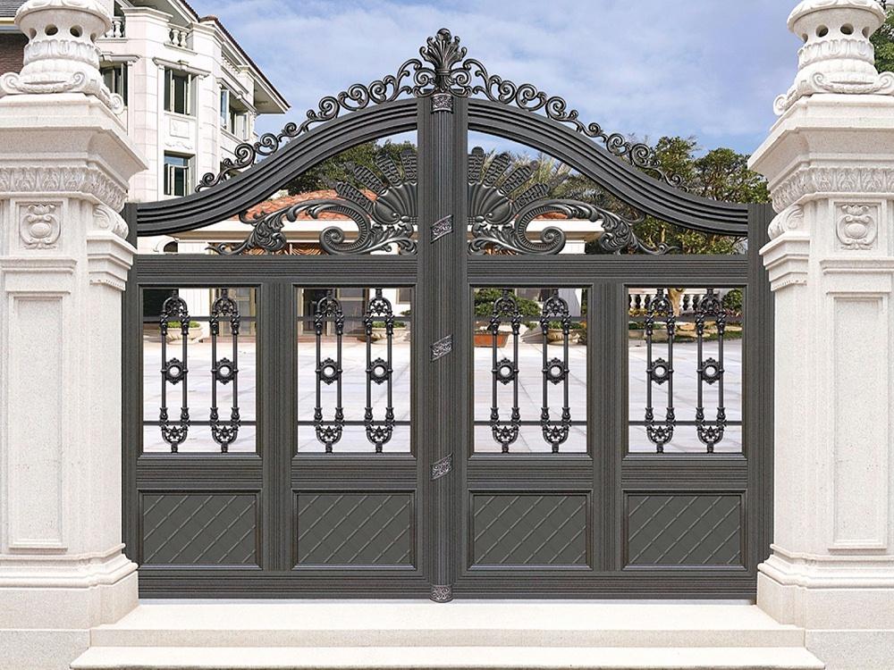中式铝艺庭院大门