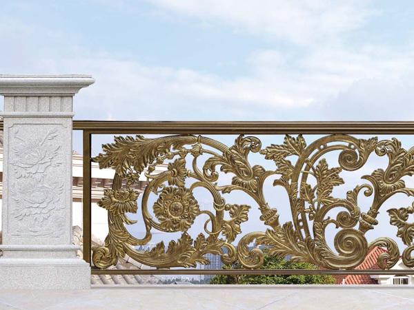 别墅阳台铝合金围栏 小区庭院户外隔离栅栏