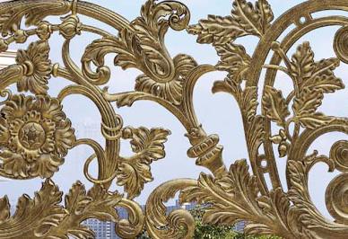汉仁铝艺护栏细节
