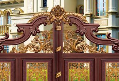 汉仁经典铝艺庭院门细节