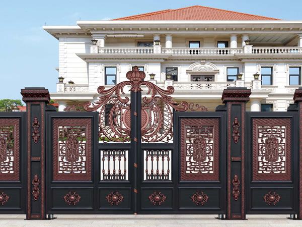 庭院大门,厂家直销定制铝艺庭院大门