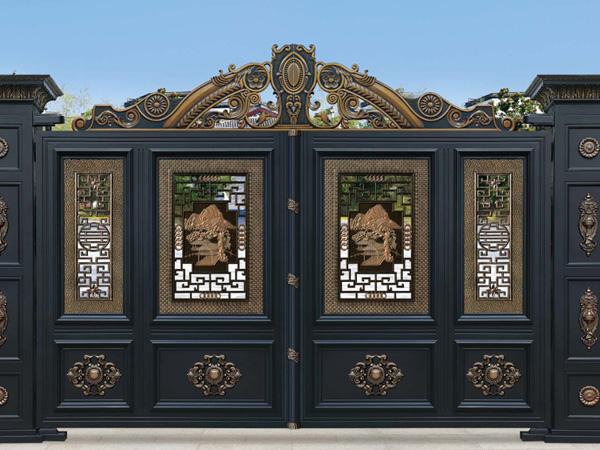 欧式别墅门 欧式复古铝艺大门 庭院小区别墅大门