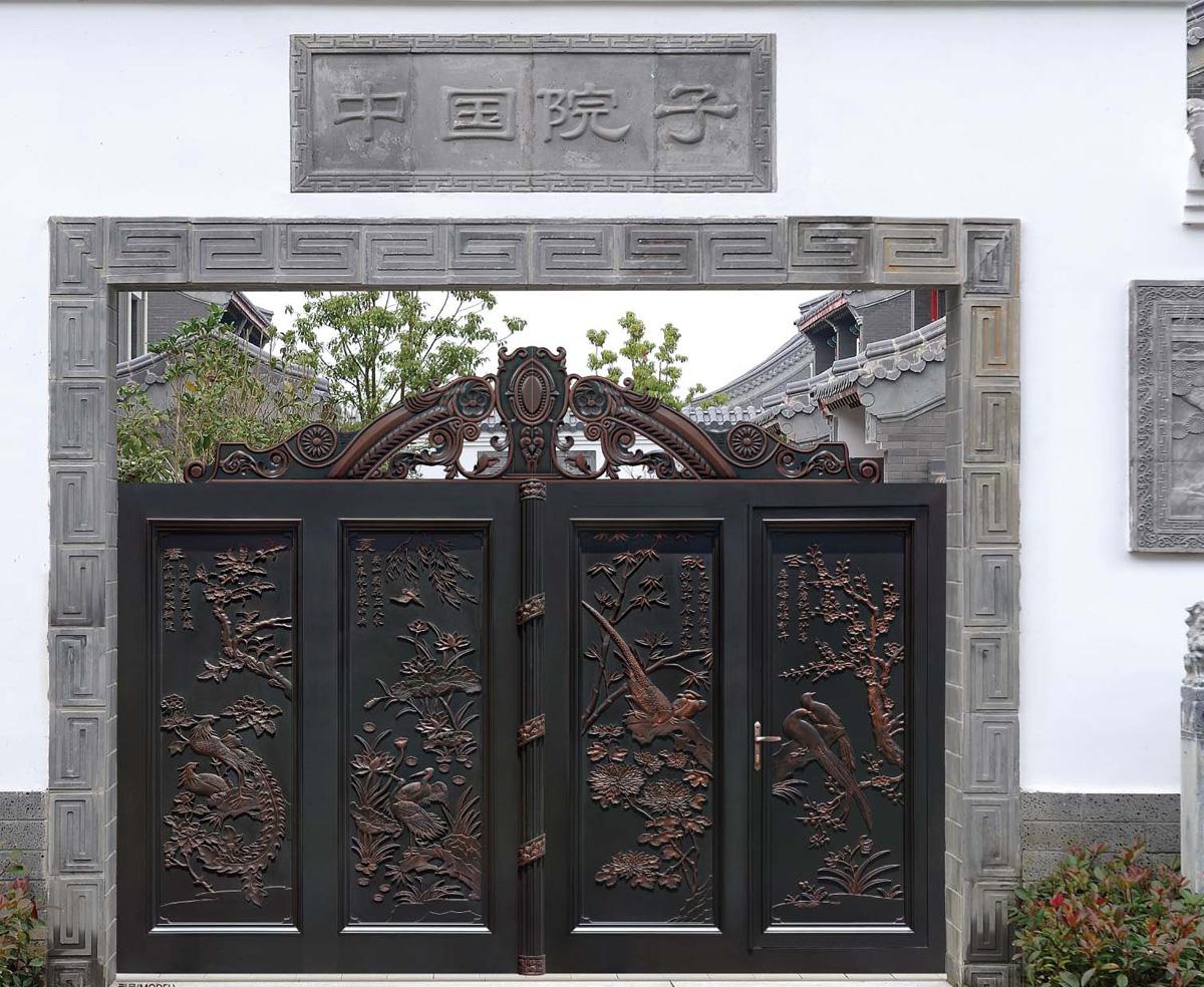 定制铝艺庭院门 花园别墅户外大门