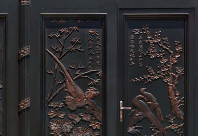 汉仁铝艺庭院门细节