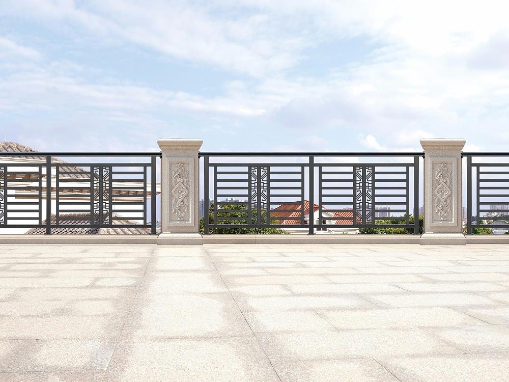 中式阳台铝艺围栏