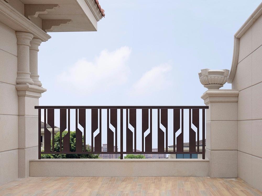 中式简约阳台铝艺围栏