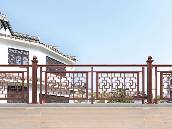 别墅庭院中式铝合金护栏