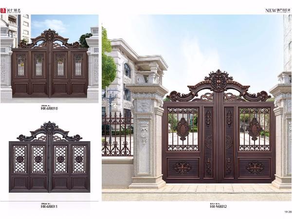 厂家直销定制铝艺大门别墅大门定做铝合金庭院大门