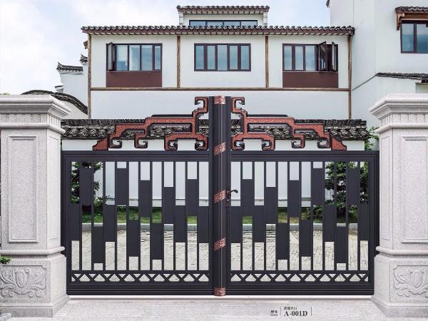 定制别墅铝艺大门 铝合金庭院花园大门