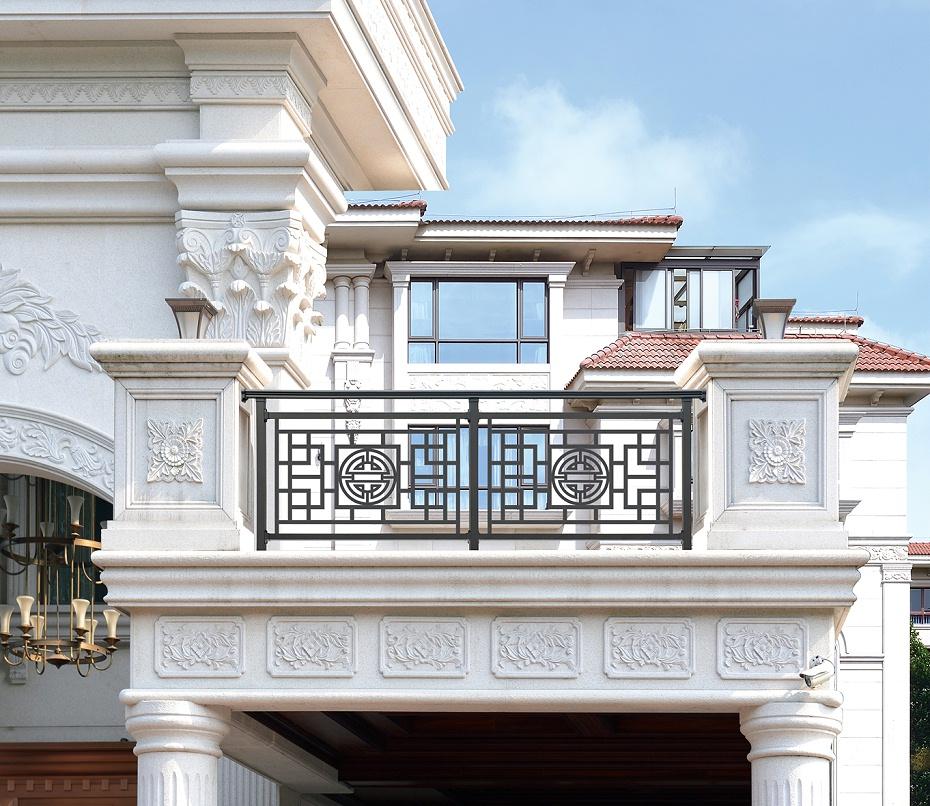 中式阳台铝艺护栏