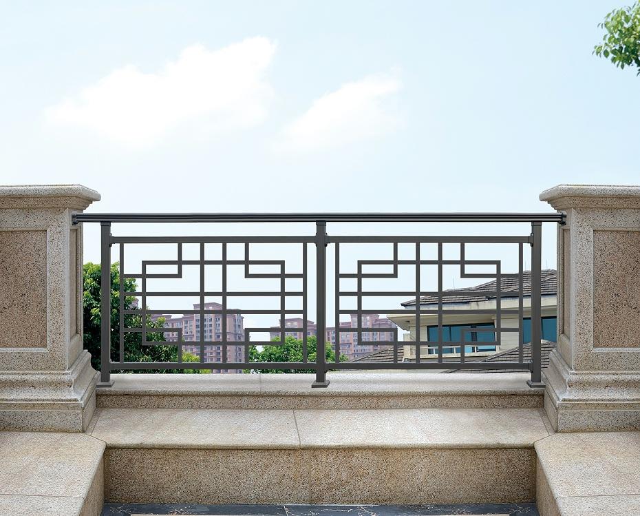 中式简约阳台铝艺护栏