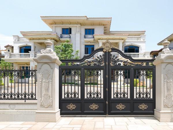 欧式轻奢铝艺庭院大门