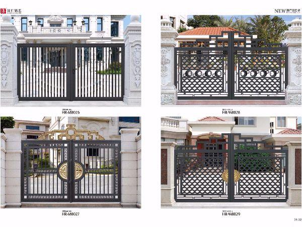 庭院别墅铝合金大门 厂家定制欧式铝艺大门