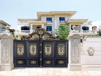 铝艺庭院大门突破市场打造独特的世界性品牌
