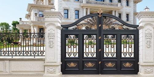 铝艺庭院大门这几个优点,足以稳定它在庭院大门行业里的地位