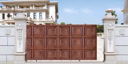 铝艺庭院大门的你会选择手动开门还是智能开门呢?