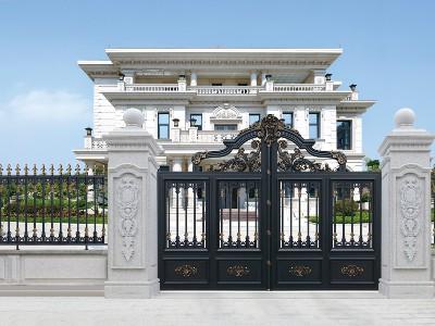 厂家直销别墅铝艺门 广东汉仁铝艺支持上门安装!