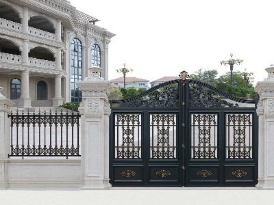 别墅大门为什么选择铝艺门而不是铜门?