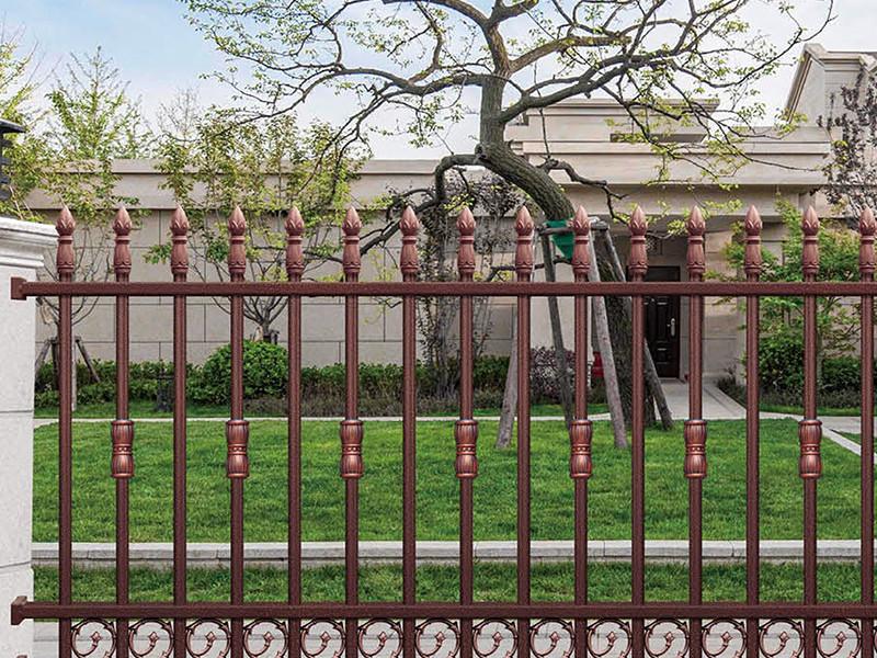 铝艺围栏扶手佛山别墅大门厂家为客户专业定做直销