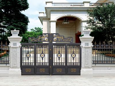 汉仁铝艺庭院大门,为您的家增添光彩